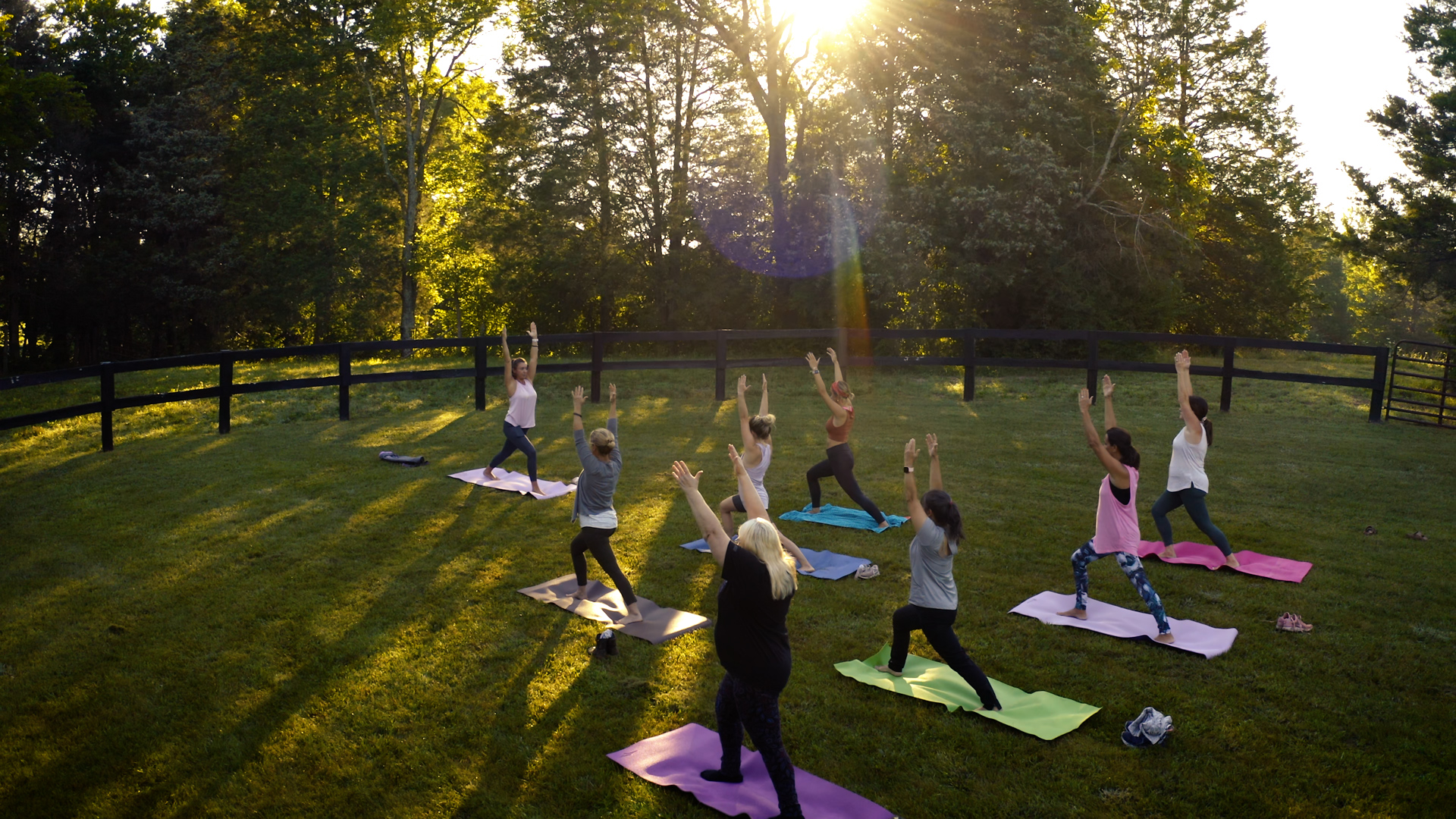 Wide Group yoga